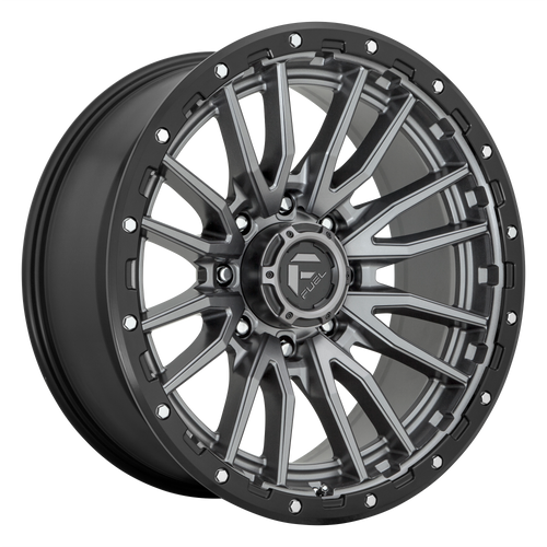 18x9 6x135 5.75BS D680 Rebel Matte Gunmetal Black - Fuel Off-Road