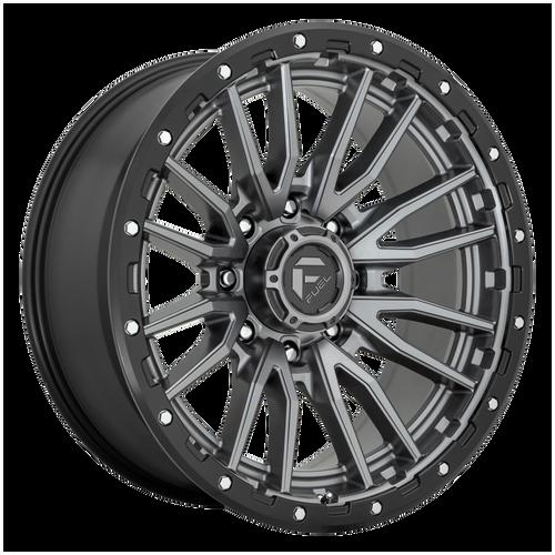 22x10 6x135 5BS D680 Rebel Matte Gunmetal Black - Fuel Off-Road