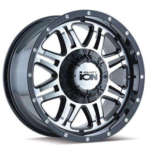 15x8 5x4.5/5x5 4.75BS Type 186 Black Machined - Ion Wheel
