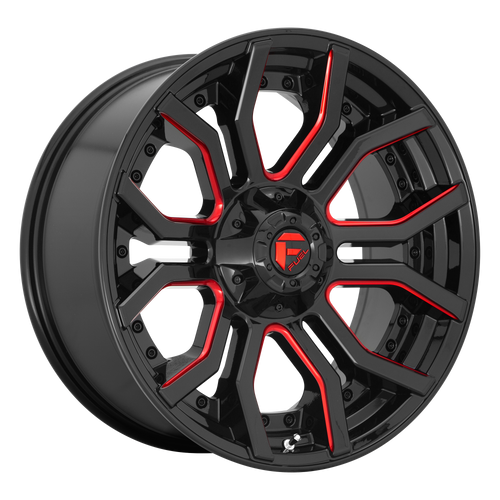 20x9 6x5.5/6x135 5.04BS D712 Rage Gloss Black Red Tinted - Fuel Off-Road