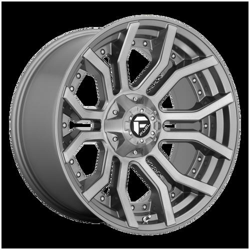 20x10 8x170 4.79BS D713 Rage Platinum Brushed Gunmetal - Fuel Off-Road