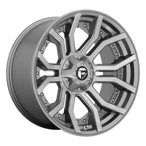 20x9 5x5/5x5.5 5.04BS D713 Rage Platinum Brushed Gunmetal - Fuel Off-Road