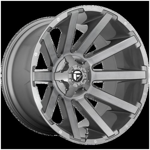 20x9 6x5.5/6x135 5.75BS D714 Contra Platinum Gun Metal - Fuel Off-Road