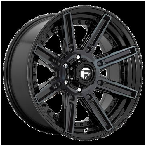 20x9 6x5.5 5.04BS D708 Rogue Gloss Black Machined - Fuel Off-Road