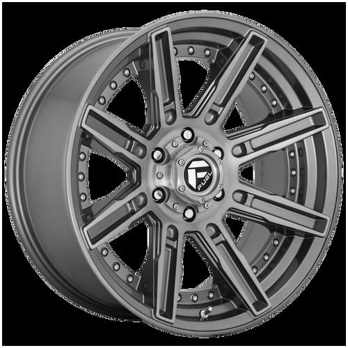 20x10 8x170 4.79BS D710 Rogue Platinum Brushed Gunmetal - Fuel Off-Road