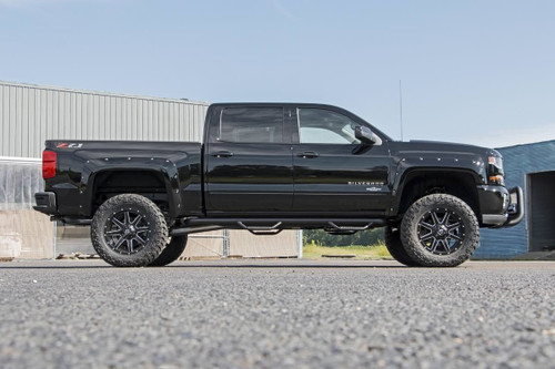 16-18 Chevy Silverado 1500 5ft8in Bed Pocket Fender Flares /Rivets - Rough Country Suspension