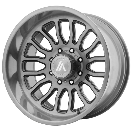 22x12 8x6.5 4.93BS AB815 Workhouse Brushed Titanium - Asanti Off-Road Wheels