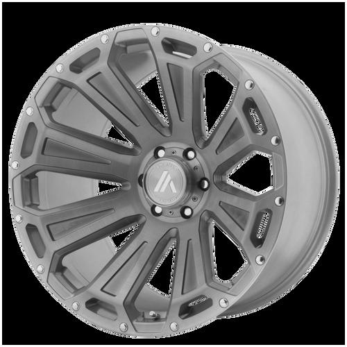 22x12 8x170 4.93BS AB813 Cleaver Brushed Titanium - Asanti Off-Road Wheels
