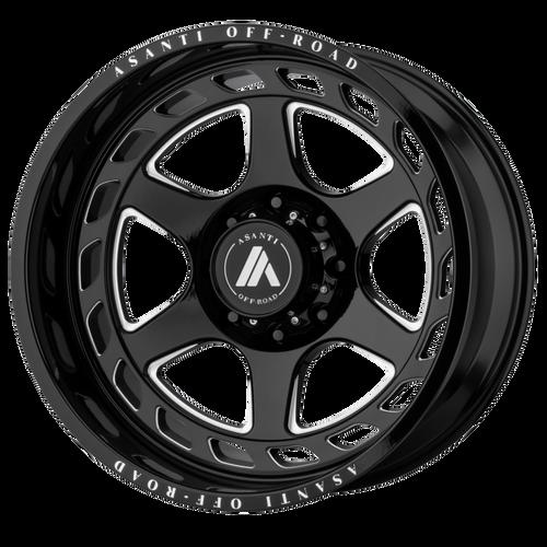 22x12 8x170 4.77BS AB816 Anvil Gloss Black - Asanti Off-Road Wheels