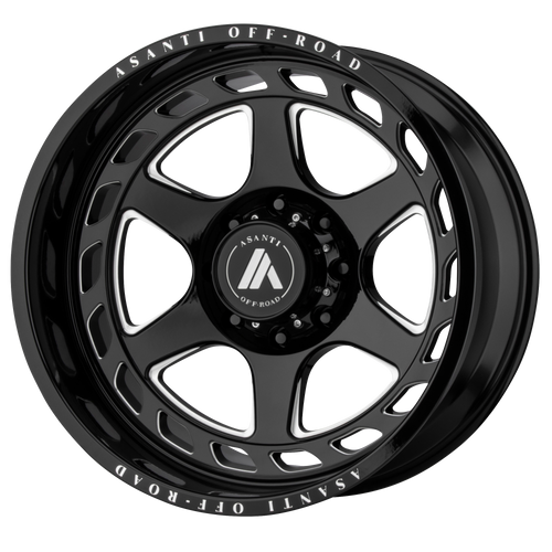 20x10 8x6.5 4.79BS AB816 Anvil Gloss Black - Asanti Off-Road Wheels