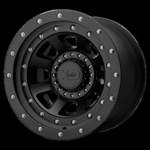 16x8 5x4.5/5x5 4.26BS XD137 FMJ Satin Black - XD Wheels