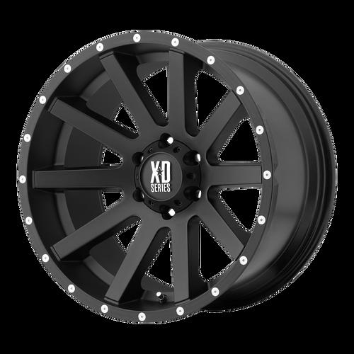 22x10 5x5 5.97BS XD818 Heist Satin Black - XD Wheels