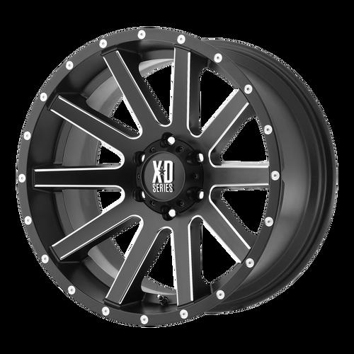 22x10 5x5 5.97BS XD818 Heist Satin Black Milled - XD Wheels