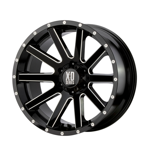 17x8 5x5 5.88BS XD818 Heist Gloss Black Milled - XD Wheels