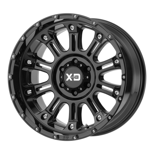 20x14 5x5 4.51BS XD829 Hoss II Gloss Black - XD Wheels