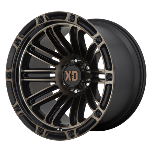 20x12 5x5 4.77BS XD846 Double Satin Black With Dark Tint - XD Wheels