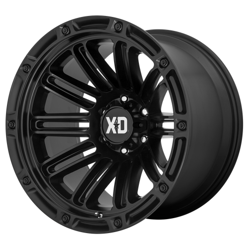 20x12 5x5 4.77BS XD846 Double Satin Black - XD Wheels