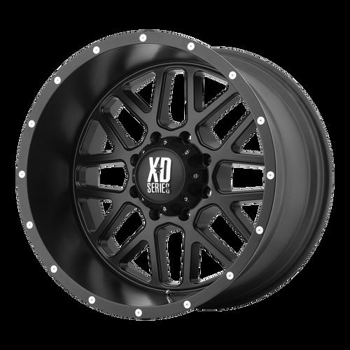 18x8 5x130 6BS XD820 Grenade Satin Black - XD Wheels