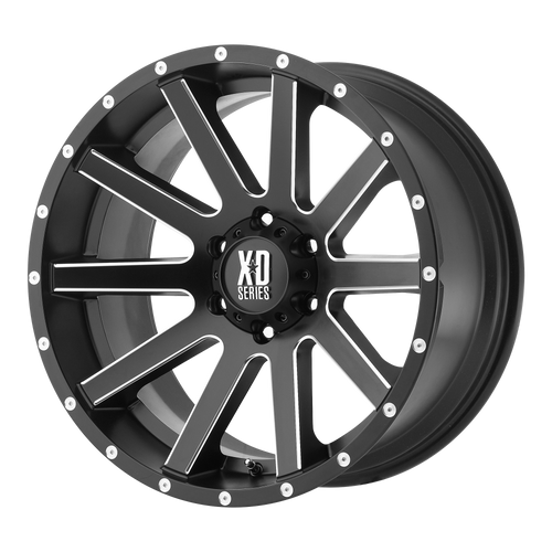 18x9 5x150 6.18BS XD818 Heist Satin Black Milled - XD Wheels