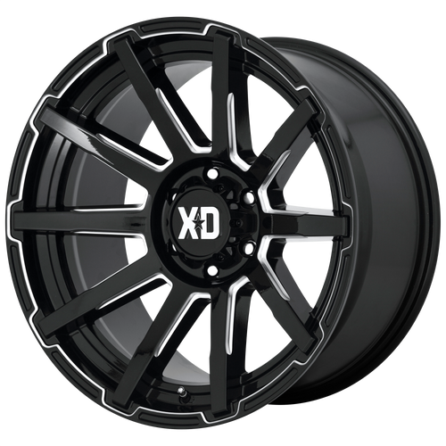 20x9 5x150 5.71BS XD847 Outbreak Gloss Black - XD Wheels