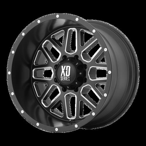 18x9 6x120 5.71BS XD820 Grenade Satin Black Milled - XD Wheels