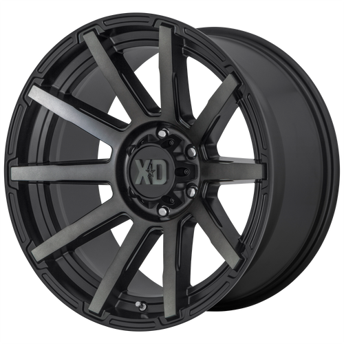 20x9 6x120 5.71BS XD847 Outbreak Satin Black - XD Wheels
