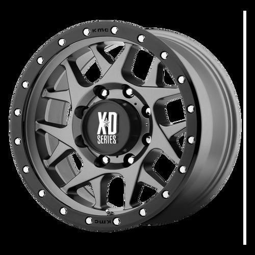 18x9 6x135 5.71BS XD127 Bully Matte Grey Black Ring - XD Wheels
