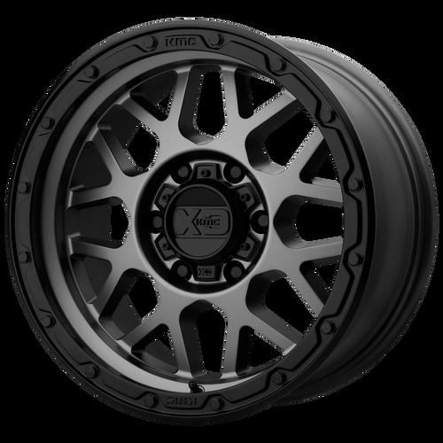 16x8 6x5.5 4.26BS XD135 Grenade OR Matte Grey Matte Black Lip - XD Wheels