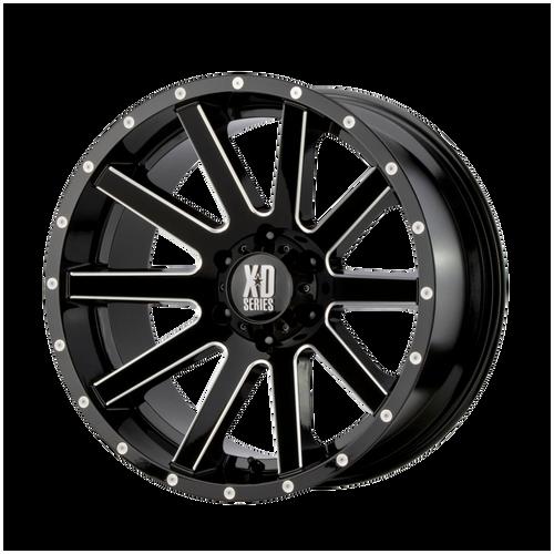 20x9 6x5.5 5.71BS XD818 Heist Gloss Black Milled - XD Wheels
