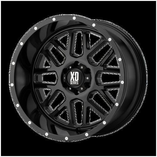 22x10 6x5.5 4.56BS XD820 Grenade Gloss Black - XD Wheels
