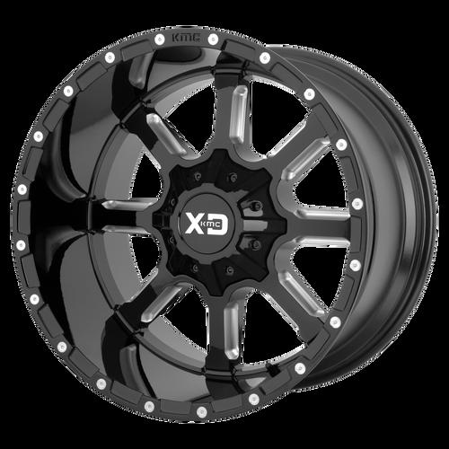 22x10 8x6.5 5.97BS XD838 Mammoth Gloss Black Milled - XD Wheels