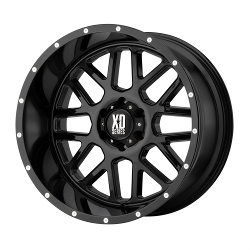 22x10 8x170 4.56BS XD820 Grenade Gloss Black - XD Wheels