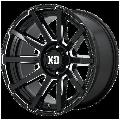 20x9 8x170 5.71BS XD847 Outbreak Gloss Black - XD Wheels