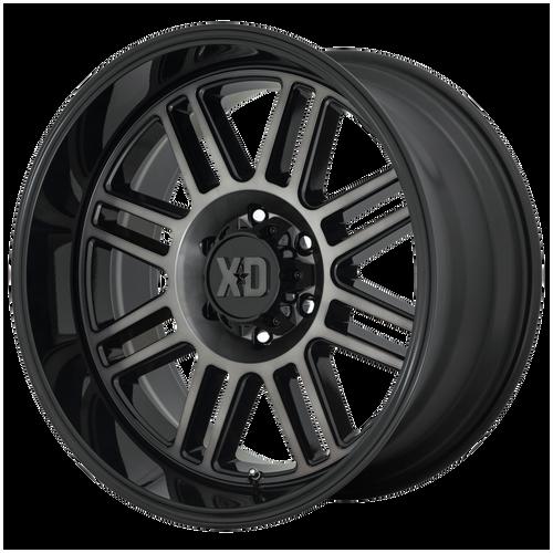 22x10 8x170 4.79BS XD857 Grenade Gloss Black With Grey Tint - XD Wheels