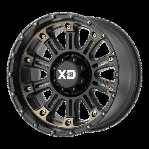 20x9 8x180 5BS XD829 Hoss Satin Black Machined Dark Tint - XD Wheels