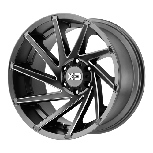 20x9 8x180 5BS XD834 Cyclone Satin Grey Milled - XD Wheels