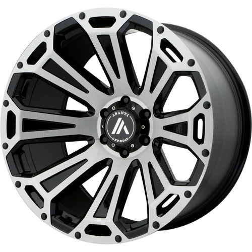 22x12 8x6.5 4.93BS AB813 Cleaver Brushed Black - Asanti Off-Road Wheels