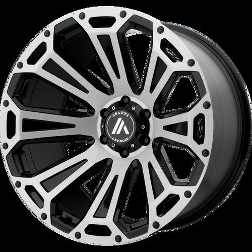 22x10 6x5.5 5.03BS AB813 Cleaver Brushed Black - Asanti Off-Road Wheels