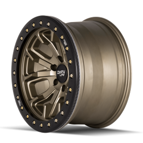 17x9 8x170 4.53BS DT-1 9303 Gold W/Simulated Ring - Dirty Life Wheels