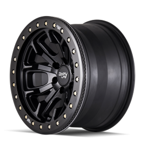 20x9 8x6.5 5BS DT-1 9303 Black W/Simulated - Dirty Life Wheels
