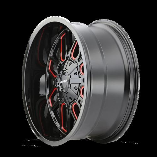 20x9 8x6.5 5BS Theory 9305 Gold W/Matte BLK Lip - Dirty Life Wheels