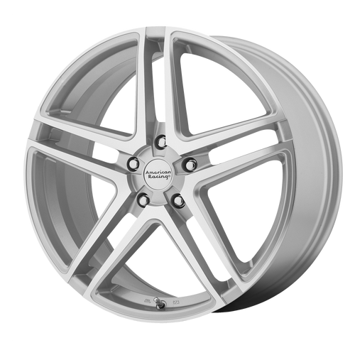 16x7 5x112 5.57BS AR907 Bright Silver Machined Face - American Racing