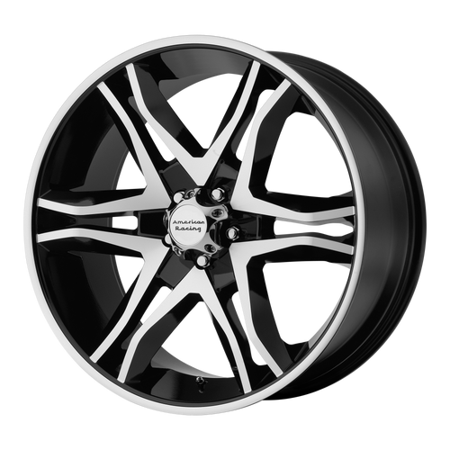 18x8.5 5x4.5 5.93BS AR893 Mainline Gloss Black Machined - American Racing