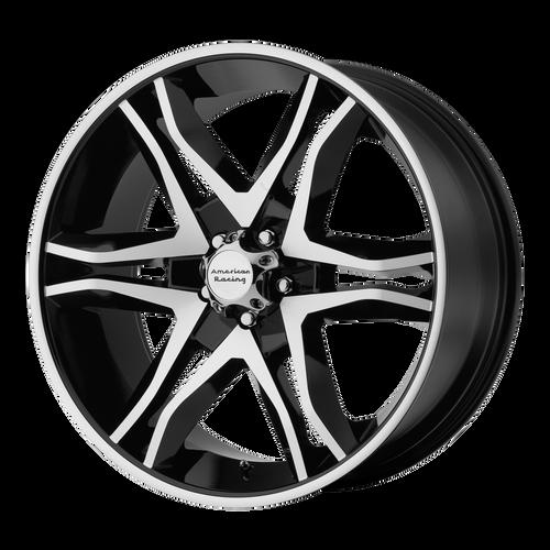 18x8.5 6x135 5.93BS AR893 Mainline Gloss Black Machined - American Racing