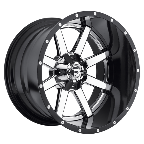 20x10 6x5.5/6x135 4.75BS D260 Maverick Chrome Plated - Fuel Off-Road
