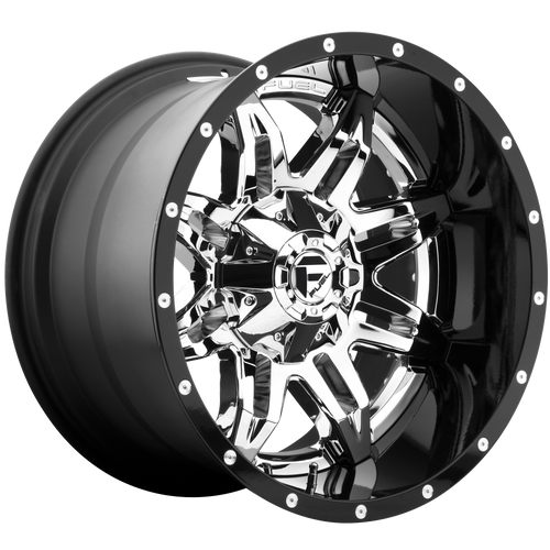 20x10 5x4.5/5x5 4.75BS D266 Lethal Chrome/Gloss Black - Fuel Off-Road