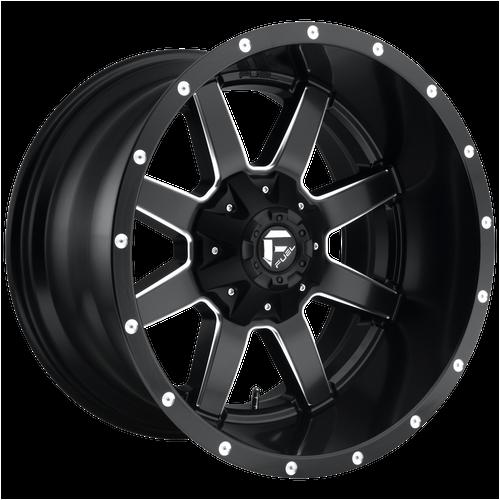 22x10 6x5.5/6x135 4.56BS D538 Maverick Matte Black Milled - Fuel Off-Road