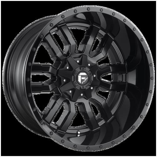 17x9 5x4.5/5x5 5.04BS D596 Sledge Matte Black - Fuel Off-Road