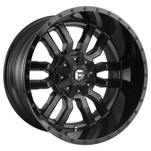 22x9.5 6x5.5/6x135 6BS D596 Sledge Matte Black - Fuel Off Road Wheels