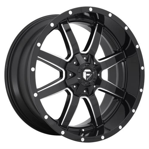 18x9 8x180 5.04BS D610 Maverick Gloss Milled - Fuel Off-Road